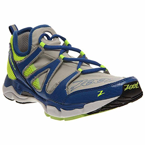 Zoot Men's M Ultra Kane 3.0 Running Shoe,Grey/Zoot Blue/Safety Yellow,8.5 M US For Sale