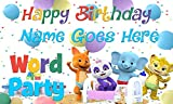 Word Party Birthday Banner Personalized/Custom