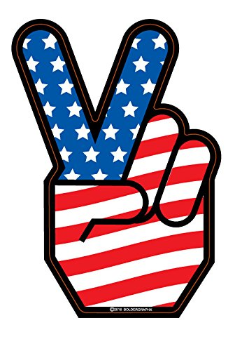 BOLDERGRAPHX 2032 Peace Symbol Decal with American Flag 5