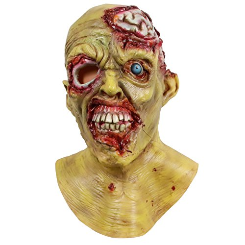 molezu Halloween Novelty Mask Zombie Scary Halloween Costume Mask Cosplay Party Masks Off-White]()