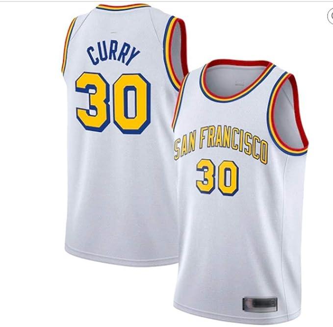 Fans Jersey Baloncesto NBA Golden State Warriors 30 Stephen Curry San Francisco Versión Clásica Cómoda Transpirable Malla Deportes Camisetas,White-XXL: Amazon.es: Hogar