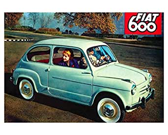Amazon.com: 1955 Fiat 600 Factory Photo: Entertainment Collectibles