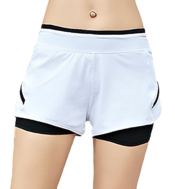 ... Mujer Elegante Verano Modernas Casual Deporte Running Gym Secado Rápido  Shorts Moda Color Sólido Woman Yoga Pantalon Cortos Elásticos  Amazon.es   Ropa y ... 12fab494b8eb2