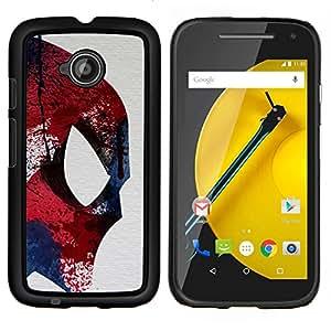 TECHCASE---Cubierta de la caja de protección para la piel dura ** Motorola Moto E ( 2nd Generation ) ** --Luchador Ufo Superhero colorido