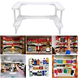 Kitchen RV Shelves Spice Jar Racks Stackable Storage Cabinet Cupboards Organizer