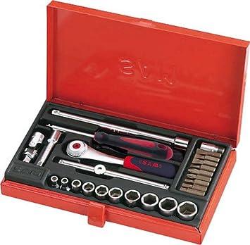 SAM Outillage 73-R26A - Estuche de llaves de vaso y accesorios (1/4