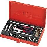 """SAM Outillage 73-R26A Coffret de douilles/accessoires 1/4"""" 26 Outils de 5,5 à 14 mm"""