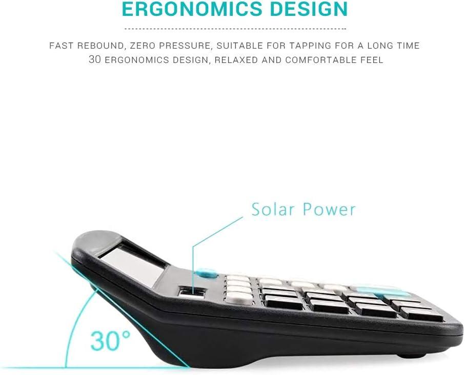 Standard-Office-Rechner gro/ße LCD-Display gro/ße empfindliche Taste Solar-Akku Dual-Power-Handheld-Rechner AimdonR Solar-Rechner