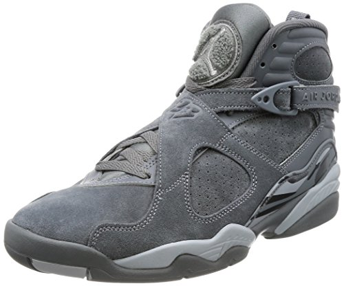 Jordan Mens Air 8 Retro Cool Grey Basketball Shoe by Jordan