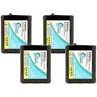 4x Pack - P-P511 Battery for Panasonic KX-TGA270S, KX-TG2740, KX-FPG376, KX-TG2730, KX-TGA510M, KX-FPG371, KX-TG5100 Cordless Phones (1200mAh, 3.6V, NI-MH)