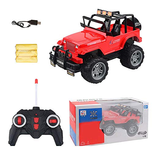 herva Remote Control Model, Off-Road Electric Rechargeable Big Foot Jeep R/C Vehicle, Children's Racing Car (1:16 Scale) ()