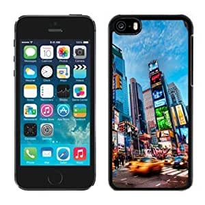 NEW Unique Custom Designed Case For Sumsung Galaxy S4 I9500 Cover Phone Case With Times Square New York_Black Phone Case