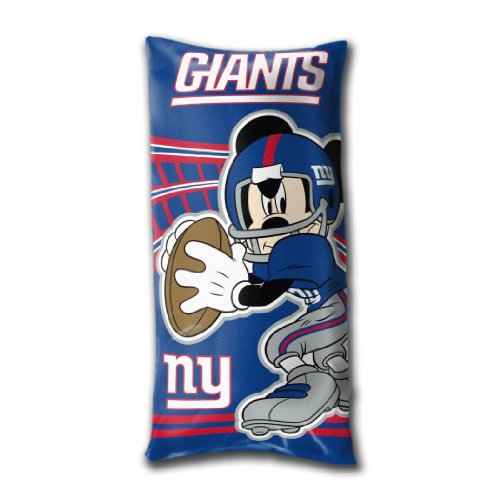 Giants Mickey Mouse (The Northwest Company NFL New York Giants Mickey Mouse Fold-Up Body Pillow)