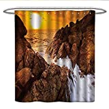 Best All Around Fishing Lines - Anniutwo Seaside Decor Collectionlong Shower curtainSunset View Sea Review