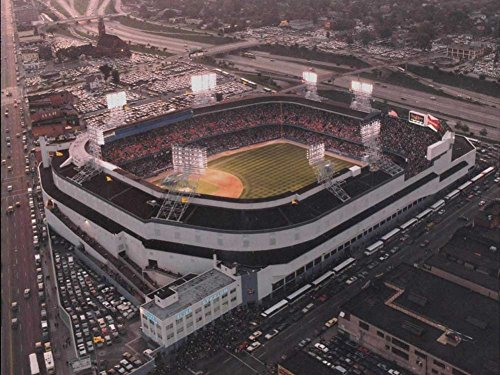 Canvas Prints - Old Tigers stadium, Detroit, MI Oil Painting On Canvas Modern Wall Art Pictures For Home Decoration (20X30 Inch, Framed) (Old Tiger Stadium Detroit)