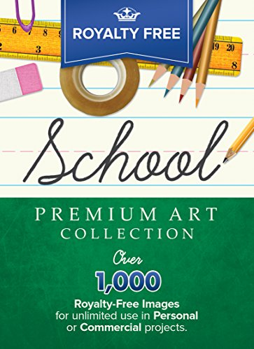 Royalty-Free Premium School Image Collection: Top-Quality ClipArt To Make Your Scrapbook Designs, Invitations and Other Projects SPARKLE!! (for PC) ()
