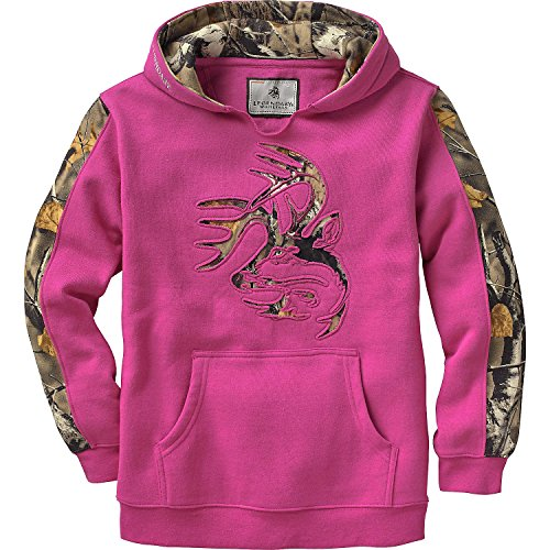 (Legendary Whitetails Youth Outfitter Hoodie Fuchsia Large)