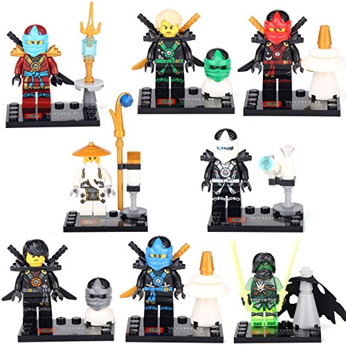 [Jay Cole Nya Kai Nya Wu NINJAGO NINJA 8 Minifigures Building Bricks lEGO Toys] (Diy Star Wars Dog Costumes)