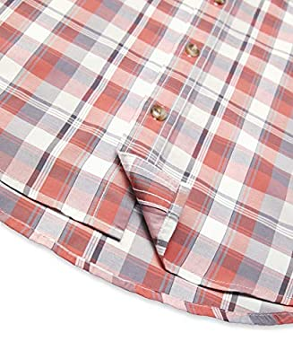 G.H. Bass & Co. Men's Big and Tall Explorer Short Sleeve Fishing Shirt Plaid Button Pocket