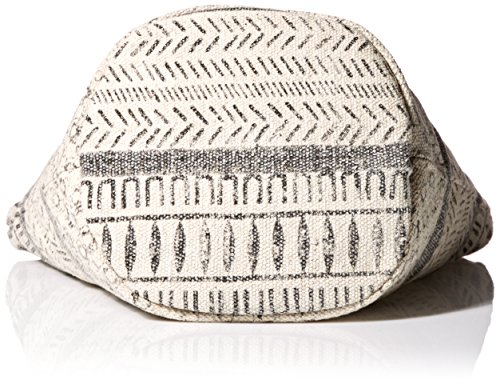 'ale By Alessandra Women's Maya Cotton Rug Bag With Leather Handles Charcoal/off White One Size Ale By Alessandra Womens Accessories