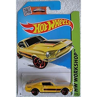 Hot Wheels 104 '68 Shelby GT500 226/250, Yellow: Toys & Games