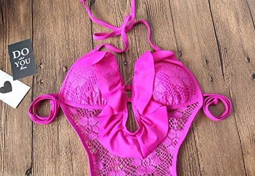 Spring Bikini De conjoined L L Femme Maillot Bain Oudan Bikini Hot coloré Taille 8HTnq4Tw