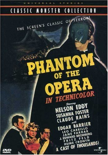 phantom of the opera poster. amazoncom phantom of the opera universal studios classic monster collection nelson eddy claude rains susanna foster edgar barrier arthur lubin poster
