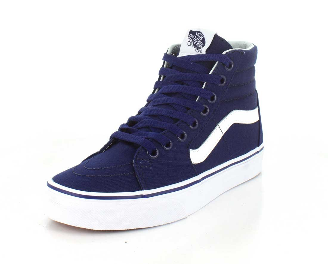 Vans Sk8-Hi Unisex Casual High-Top Skate Shoes, Comfortable and Durable in Signature Waffle Rubber Sole B01I42TZM4 7 D(M) US|New York Yankees / Navy