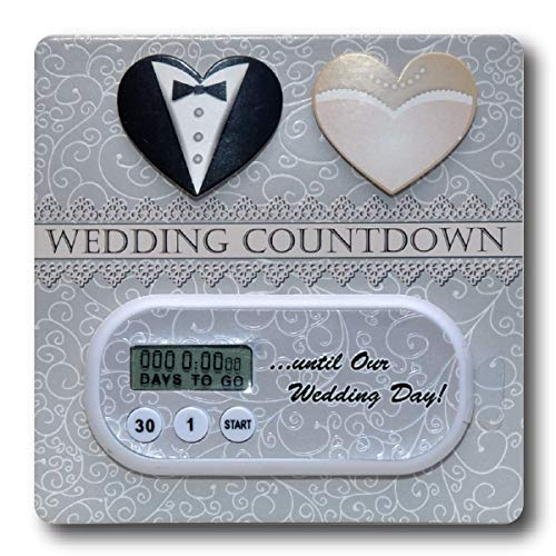 Wedding Countdown Clock & Embellished Card -