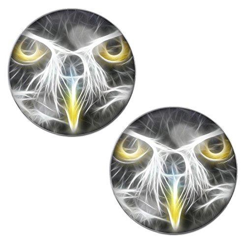 lilments Hawk Eagle Bird Face pour Homme Femme Boucles d'oreilles Boucles d'oreille à tige en acier inoxydable