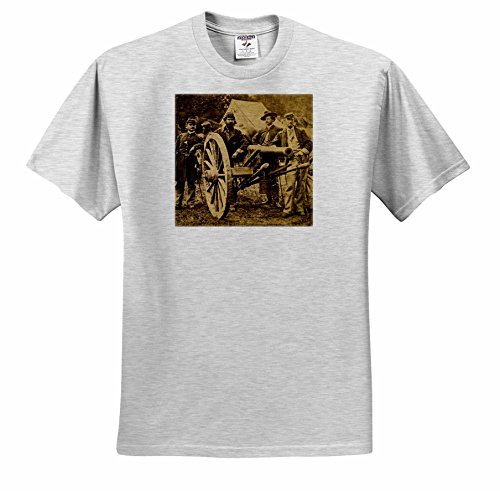 Scenes from the Past Stereoview - Vintage Civil War 1862 Battle of Fair Oaks Virginia Stereoview - T-Shirts - Adult Birch-Gray-T-Shirt XL (ts_240506_21)