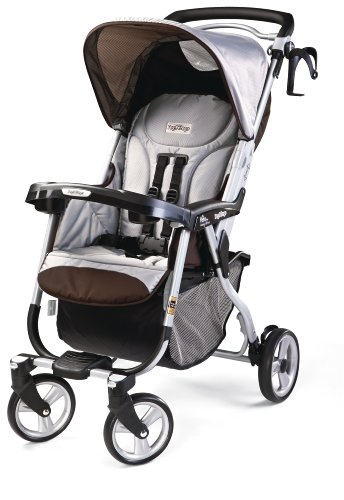 Peg-Perego Vela Easy Drive Stroller, (Brown Single Stroller)