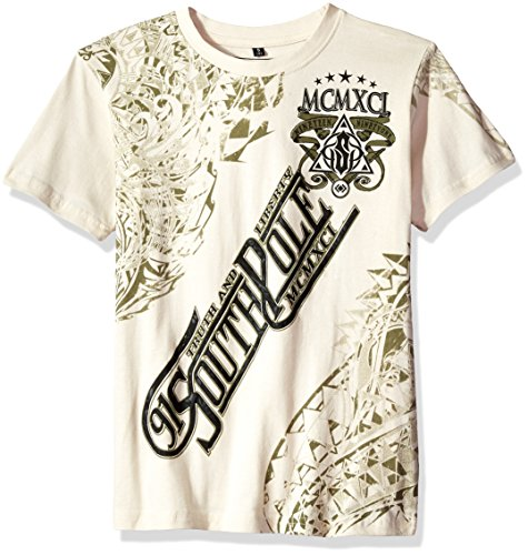 - Southpole Big Boys' Short Sleeve Hd and Screen Logo Dragon Graphic Tee, Bone, Medium