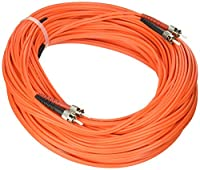 eDragon ED91437 Fiber Optic Cable, ST/ST, Multimode, Duplex, 50/125, 30m