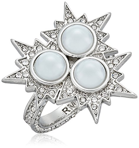 Rebecca Minkoff Rock N Roll Statement Silver with Crystal...