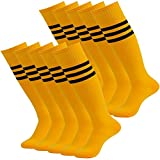 Lucky Commerce Unisex Knee High Solid Sport Compression Soccer Socks 2/4 Pairs