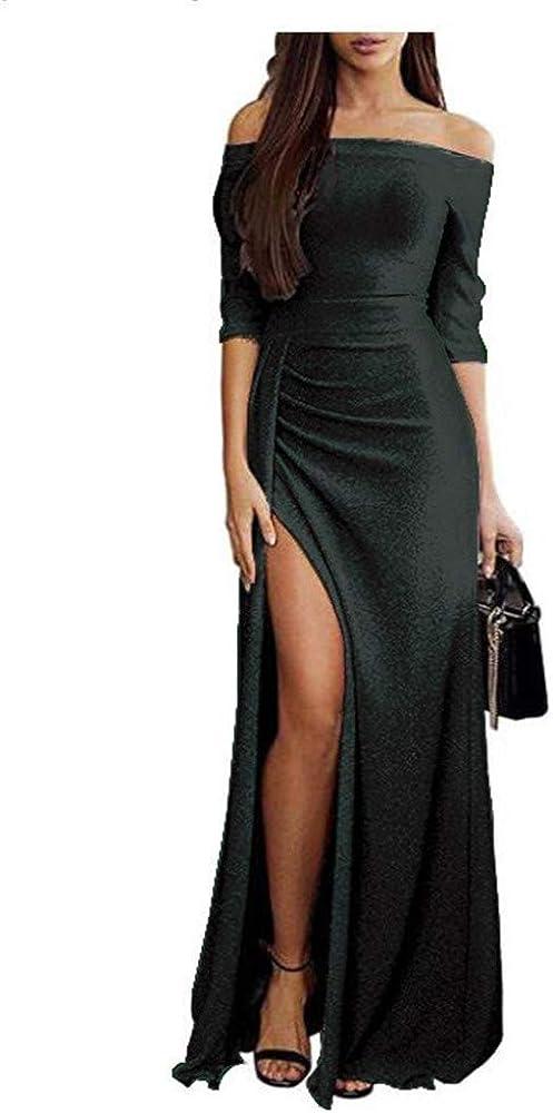 anYanZiBaiH Vestido de Falda Larga para Mujer Vestido Dividido de ...