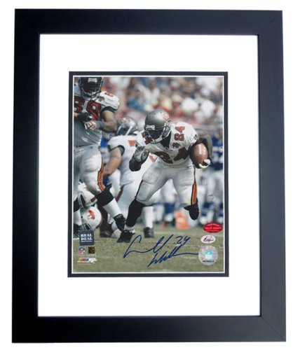Carnell CADILLAC Williams Signed - Autographed Tampa Bay Bucs 8x10 inch Photo BLACK CUSTOM FRAME ()