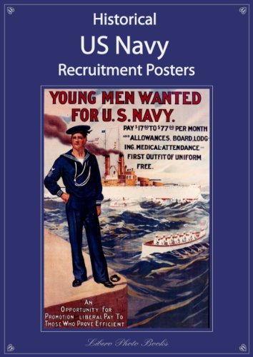 Historical US Navy recruitment posters: USA Naval History recruiting art images: Pre 1900 to World War I & II - including Women in the Navy, and African-American join the Navy picture poster