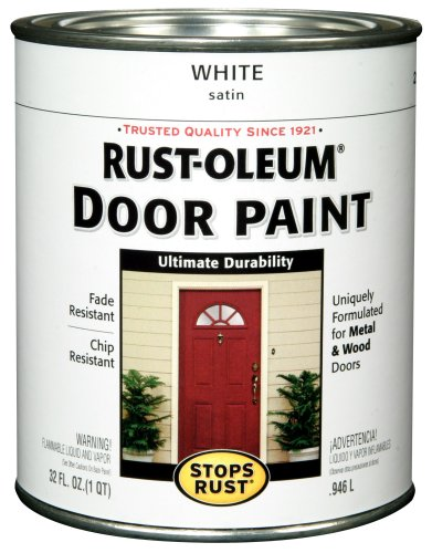 Rust-Oleum 238311 Door Paint, White, 1-Quart