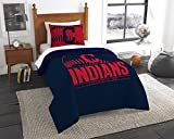 "The Northwest Company Cleveland Indians MLB Twin Comforter Set (Grand Slam Series) (64"" x 86"")"
