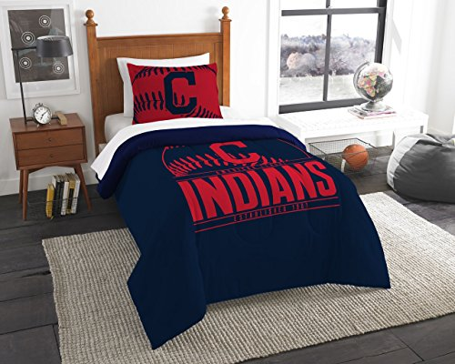 The Northwest Company Cleveland Indians MLB Twin Comforter Set (Grand Slam Series) (64