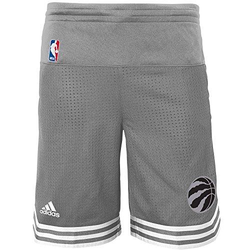fan products of Toronto Raptors Youth adidas Gray Swingman Pre Game Shorts (Medium 10/12)