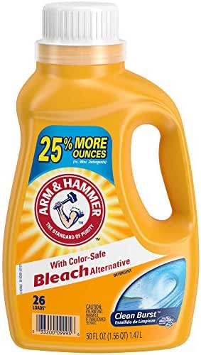 Laundry Detergent: Arm & Hammer with Bleach