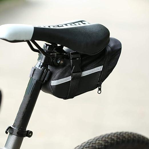 SAOJI Bicicleta al Aire Libre Bicicleta de montaña Ciclismo Bolsa de Asiento Trasero Bolsa de sillín de Nylon para Bicicletas Mochila de Cola Mochila zadeltas para Montar Dropshippig: Amazon.es: Hogar