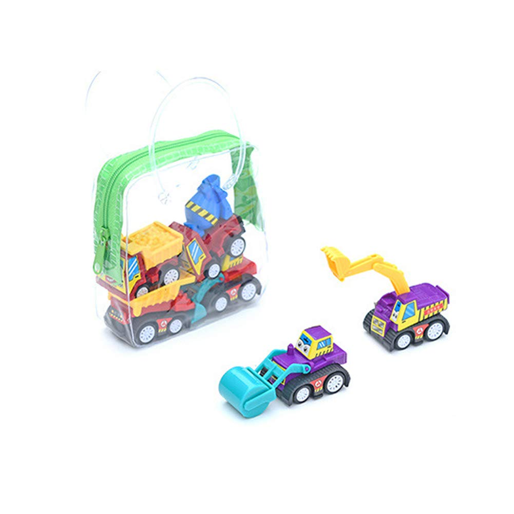 FeiyanfyQ 6Pcs Children Kids Mini Simulation Engineering Truck Fire Car Vehicle Model Toy Engineering Truck