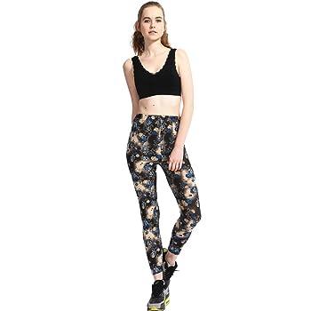 colorful Floral Rose Printed Pretty Super Comfortable Leggings Pants