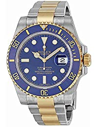 Submariner Blue Dial Stainless Steel and 18K Yellow Gold Bracelet Automatic Mens Watch 116613BLSO. Rolex