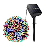 CheetaLamp Color Solar Lights Outdoor 33ft 10m 100 LED 8 Modes Solar Powered Lighting Waterproof