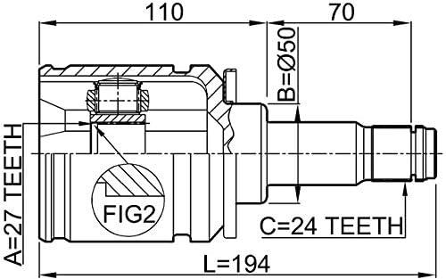 FEBEST 0111-MCV30LH Left Inner CV Joint